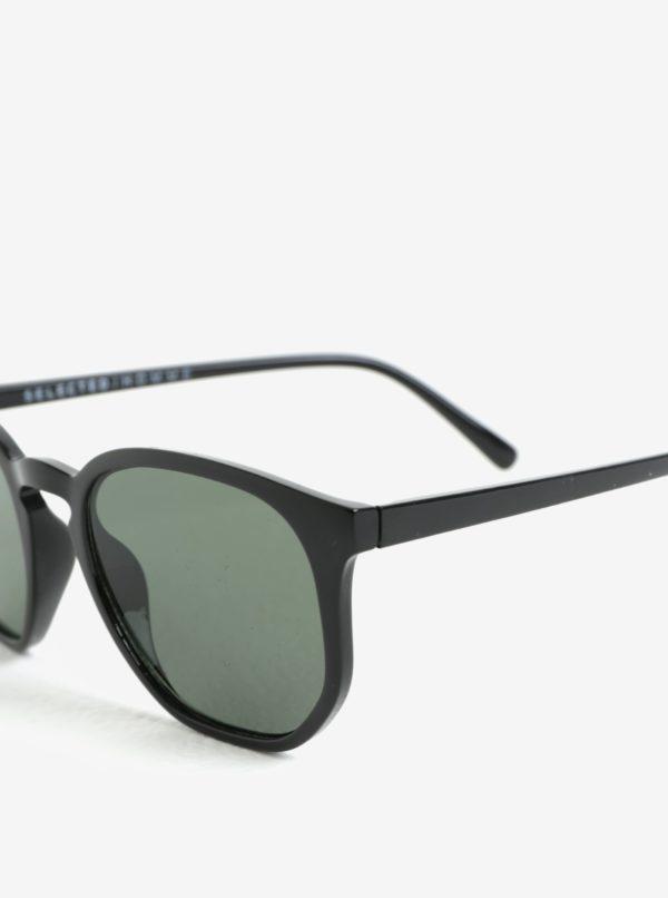 Čierne slnečné okuliare Selected Homme Sunday