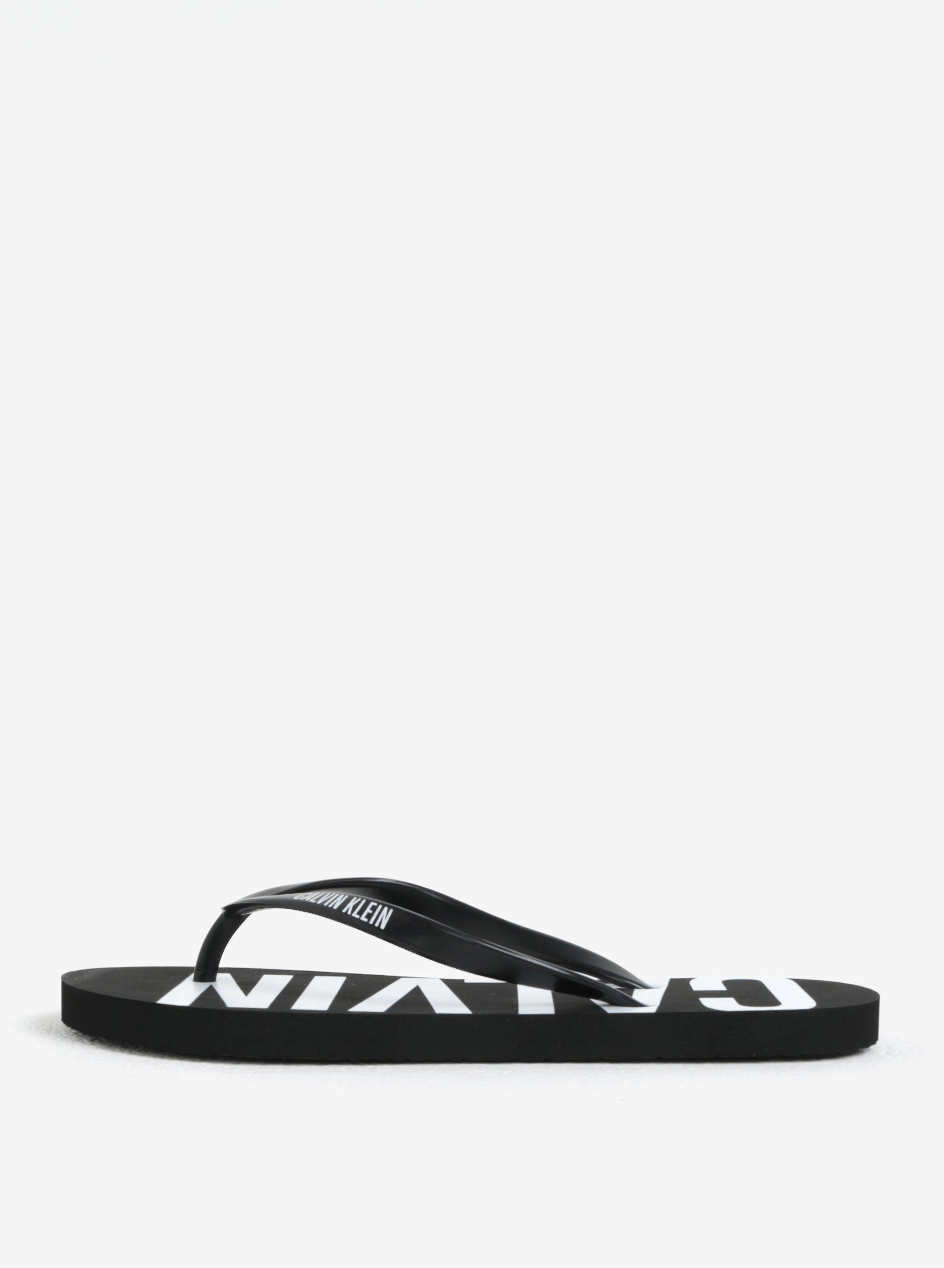 9420759848a06 Čierne dámske žabky s potlačou Calvin Klein Underwear | Moda.sk