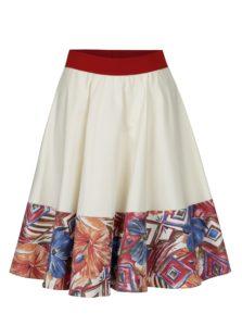 Krémovo-červená sukňa SEVERANKA