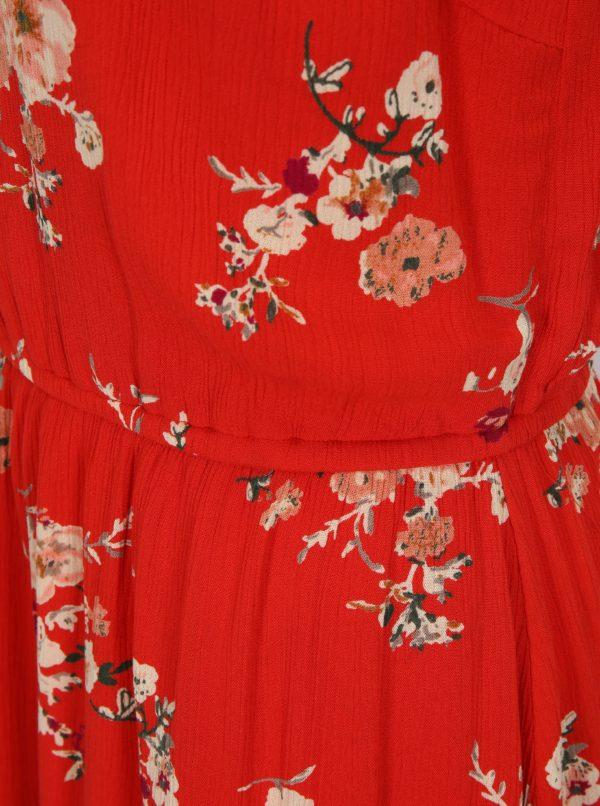 Červené kvetované šaty ONLY Karmen