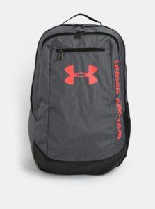 Tmavosivý vodovzdorný batoh s neónovými detailmi Under Armour Hustle