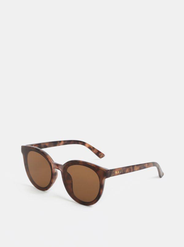 Hnedé vzorované slnečné okuliare Nalí