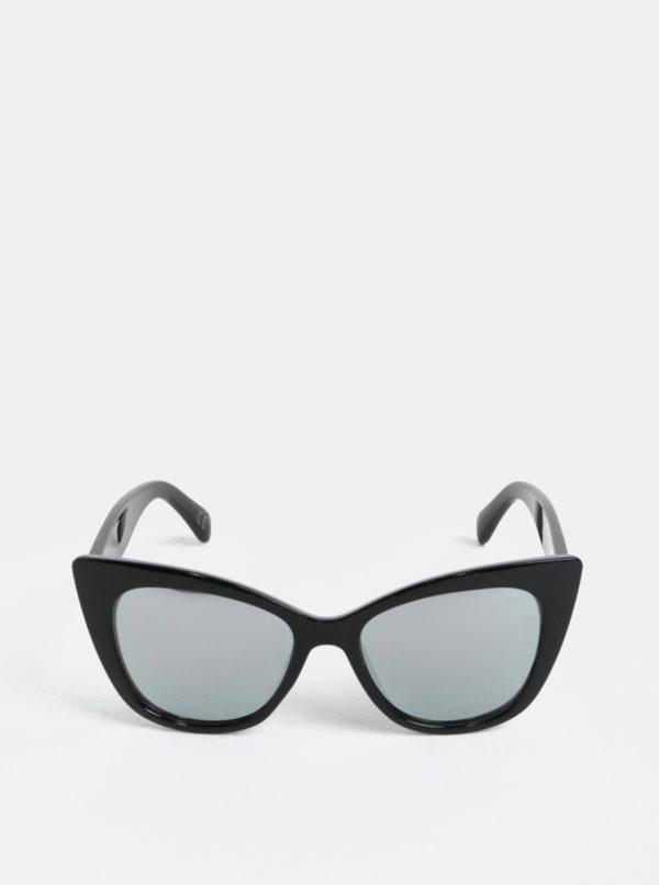 Čierne hranaté slnečné okuliare Nalí