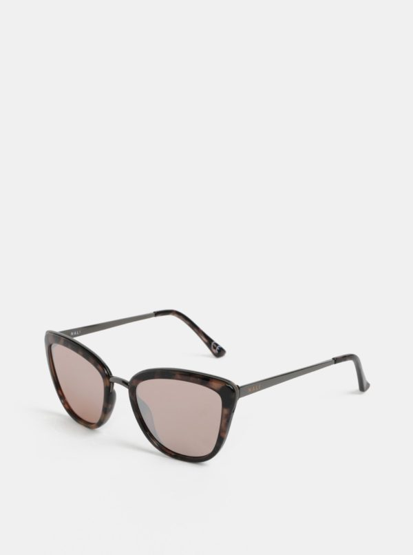 Hnedo-čierne vzorované slnečné okuliare Nalí