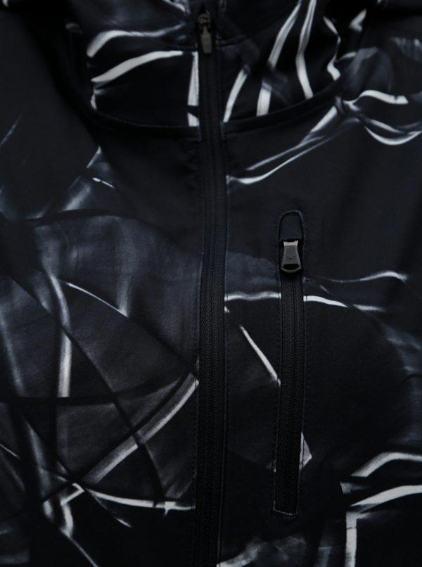 Čierna vzorovaná dámska tenká vodovzdorná športová bunda Under Armour