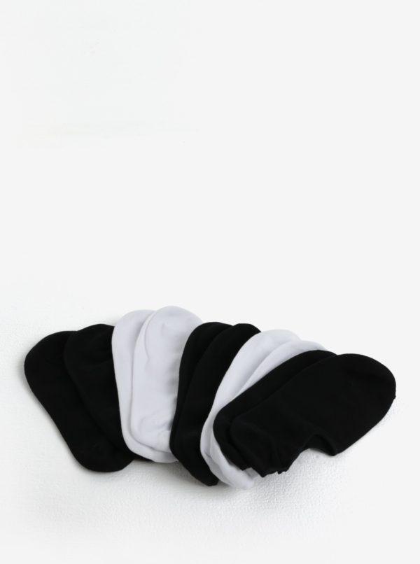 Sada piatich párov nízkych ponožiek v čiernej farbe Jack & Jones Basic