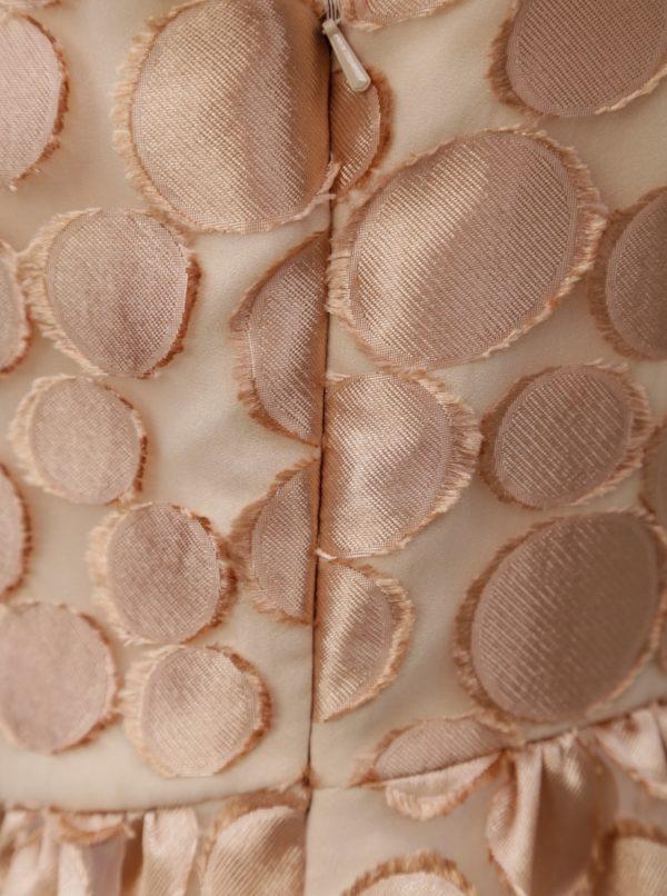 Vzorované šaty v ružovozlatej farbe Pietro Filipi