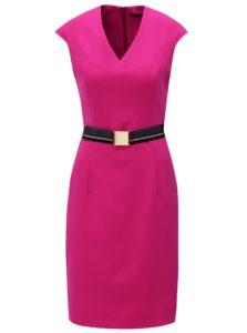 Ružové puzdrové šaty s opaskom Pietro Filipi