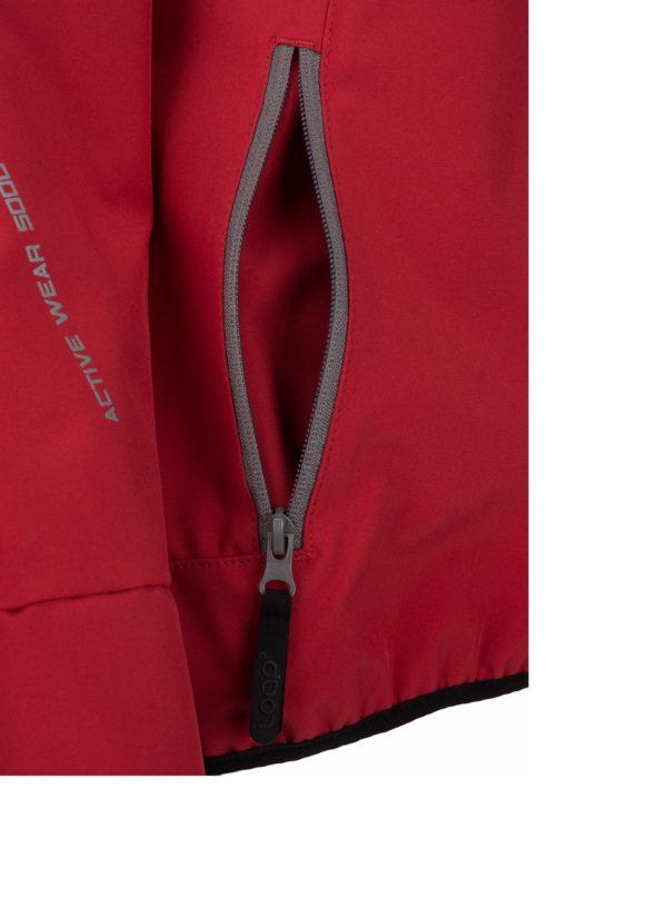 Červená dámska softshellová funkčná bunda LOAP Letya