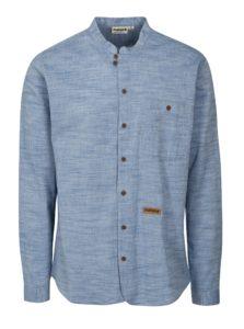 Modrá pánska melírovaná košeľa Maloja