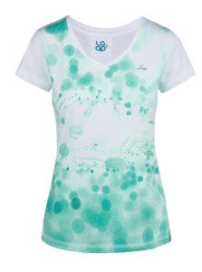 Zeleno-biele dámske tričko s potlačou LOAP Byblosa