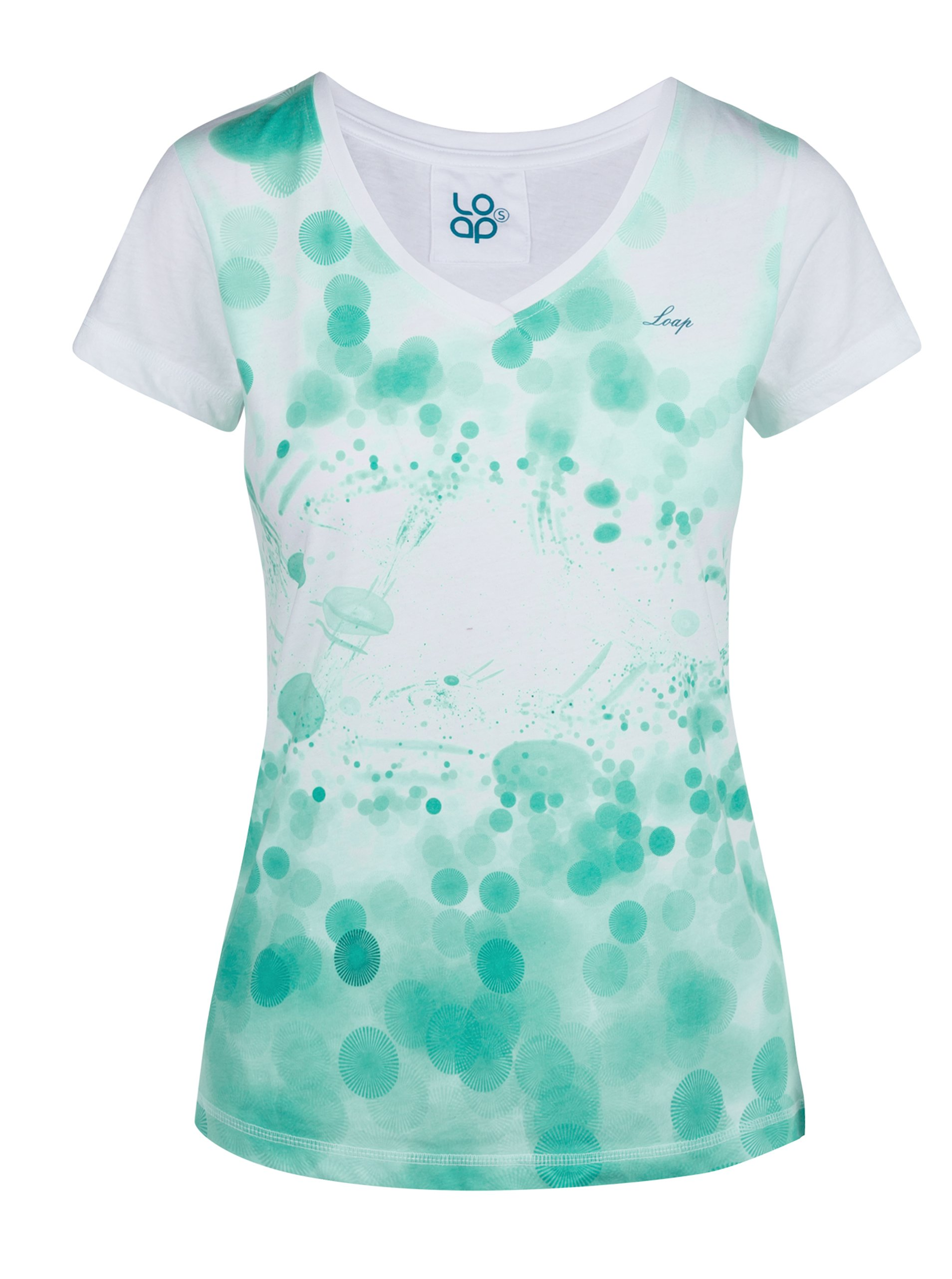 0c919c1a7 Zeleno-biele dámske tričko s potlačou LOAP Byblosa | Moda.sk