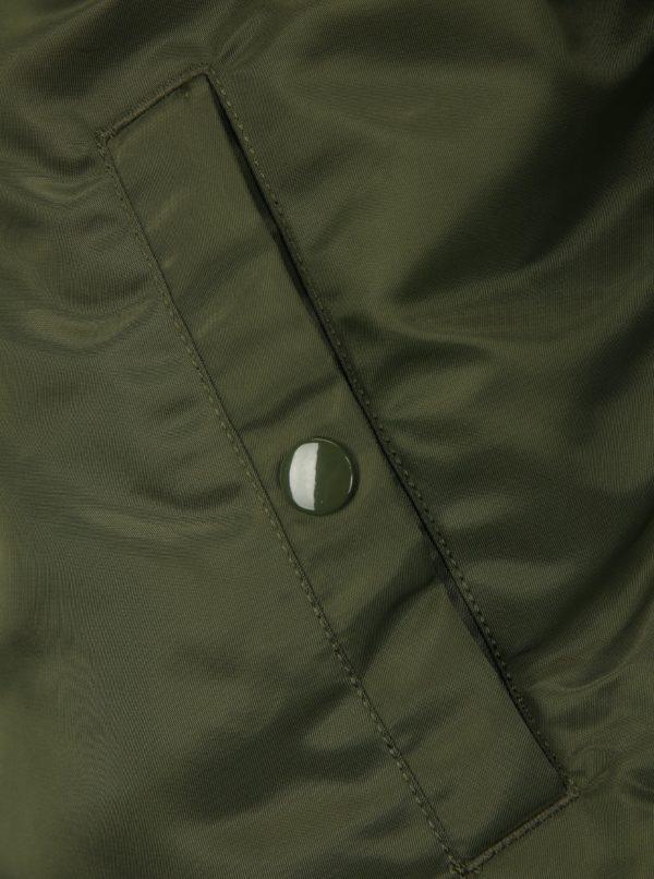 Hnedo-zelený pánsky obojstranný bomber ALPHA INDUSTRIES