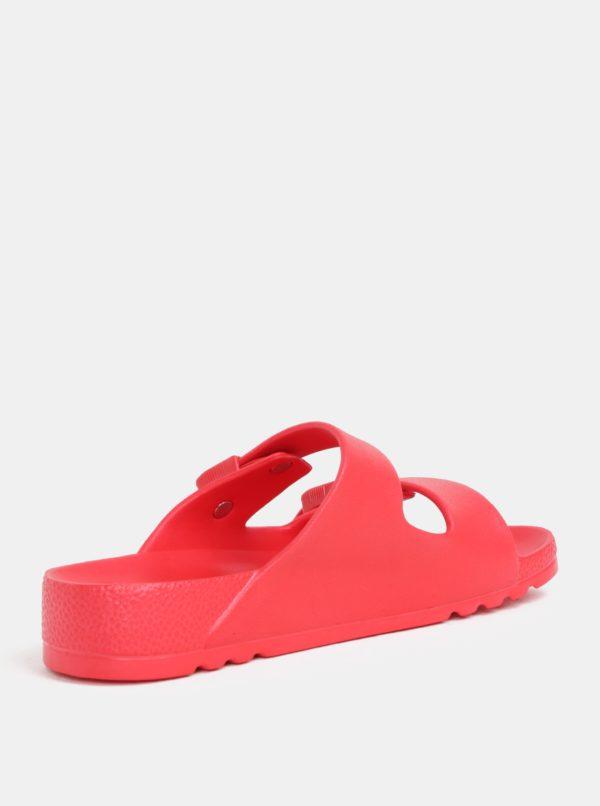 Červené dámske zdravotné papuče Scholl Bahia