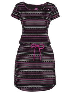 Čierne vzorované šaty LOAP Alecia