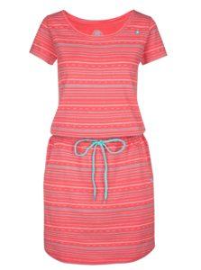 Koralové vzorované šaty LOAP Alecia