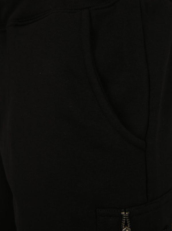 Čierne pánske teplákové kraťasy ALPHA INDUSTRIES