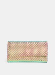 Tyrkysovo-ružová metalická peňaženka s plastickým vzorom Anna Smith