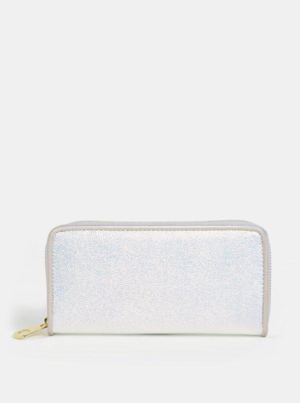 Metalická peňaženka v striebornej farbe Anna Smith