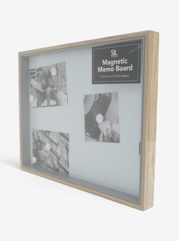 Biela magnetická tabuľa v ráme SIFCON