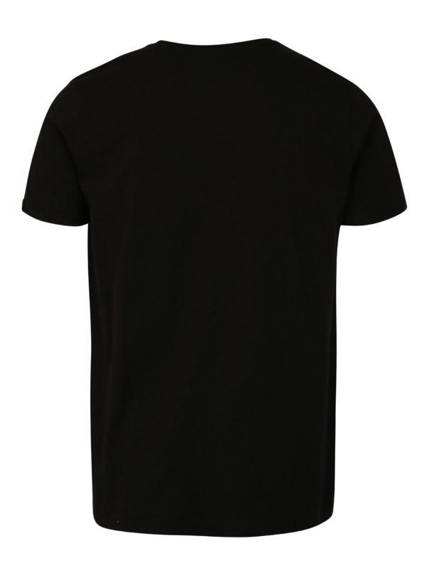Čierne pánske tričko s potlačou ALPHA INDUSTRIES