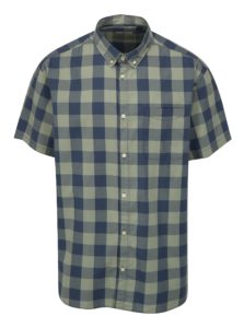Modro-zelená kockovaná plus size košeľa Jack & Jones Boise