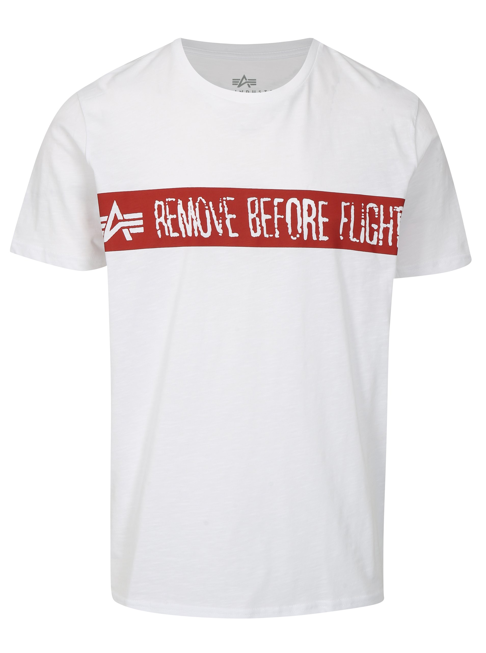 0027d7982 Biele pánske tričko s potlačou ALPHA INDUSTRIES | Moda.sk
