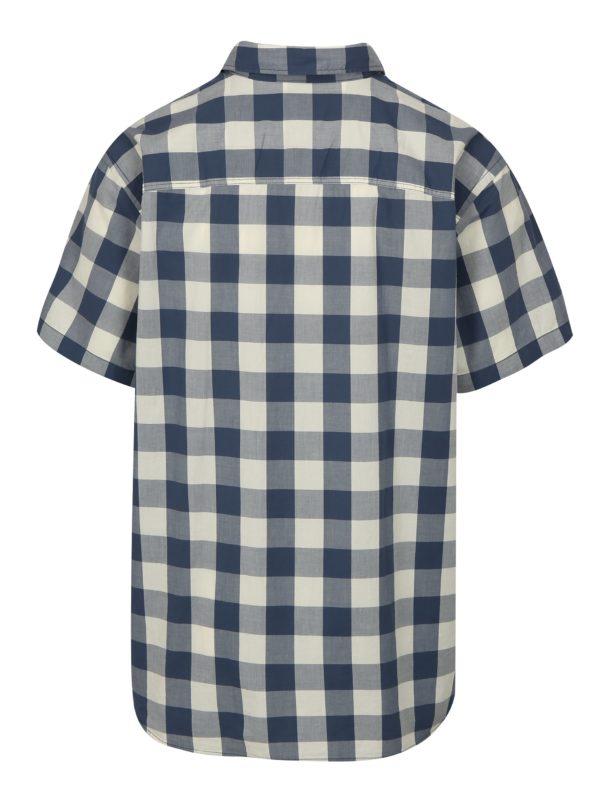 Modro-biela kockovaná plus size košeľa Jack & Jones Boise