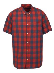 Modro-červená kockovaná plus size košeľa Jack & Jones Boise