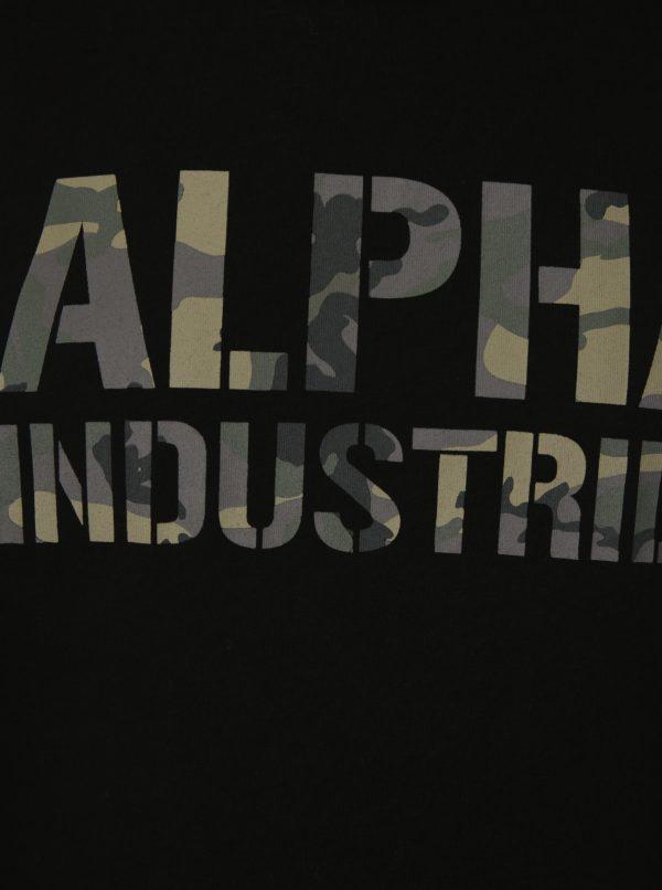 Čierne pánske tričko s krátkym rukávom ALPHA INDUSTRIES