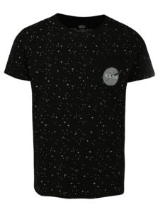 Čierne pánske vzorované tričko ALPHA INDUSTRIES
