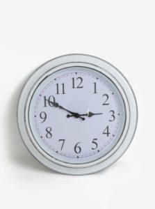 Biele nástenné hodiny SIFCON