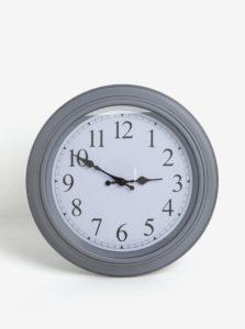 Tmavosivé nástenné hodiny SIFCON