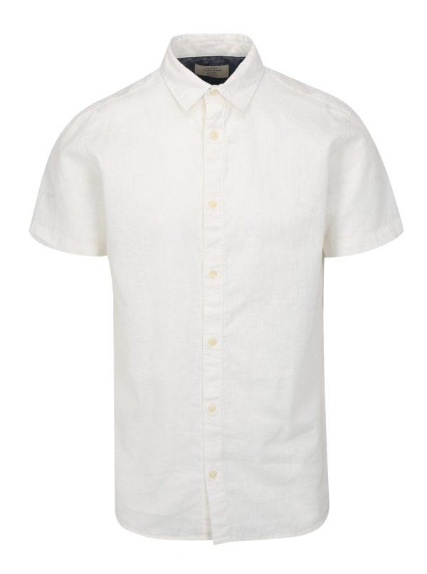 Biela ľanová košeľa Jack & Jones New