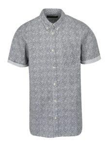Modro-biela kvetovaná slim fit košeľa Jack & Jones Kevin