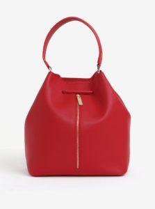 Červená vaková kabelka/batoh 2v1 s detailmi v zlatej farbe Nalí