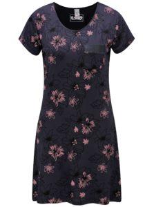 Tmavosivá vzorovaná nočná košeľa M&Co