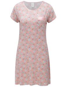 Ružová vzorovaná nočná košeľa M&Co