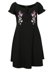 Čierne šaty s výšivkou Dorothy Perkins Curve