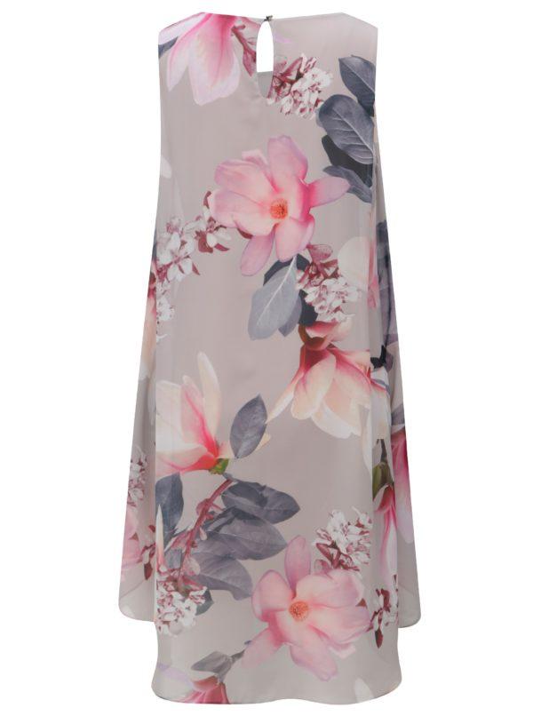 Ružovo–sivé kvetované šaty Billie & Blossom by Dorothy Perkins