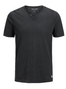 Čierne tričko Jack & Jones Premium Benjamin