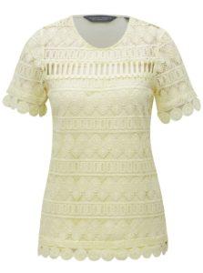 Žlté čipkované tričko Dorothy Perkins Tall