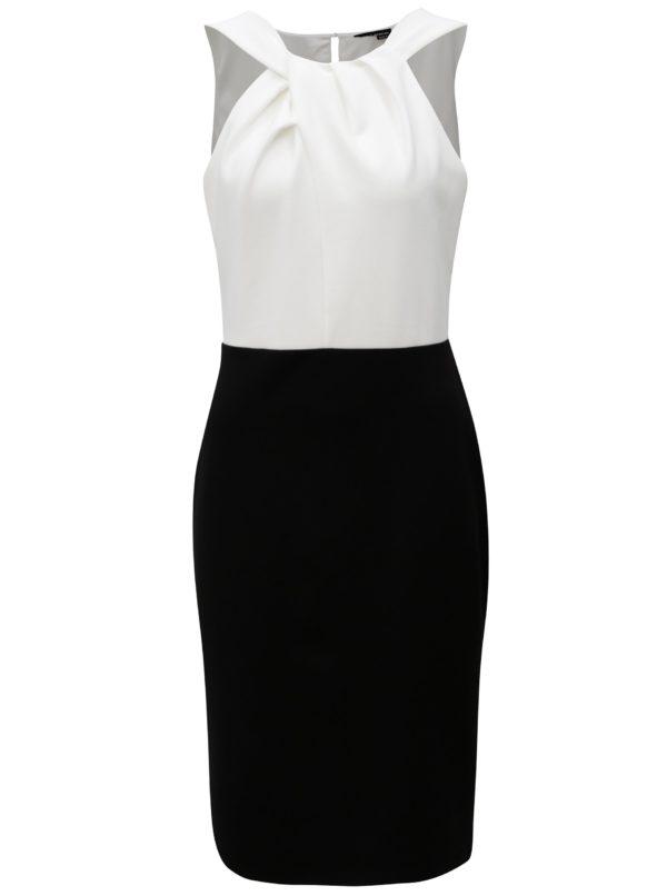 Čierno-biele puzdrové šaty Dorothy Perkins