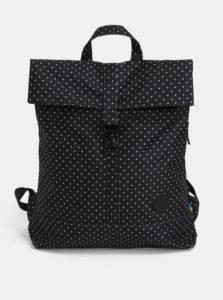 Čierny bodkovaný batoh s karabínou City Fold 16 l