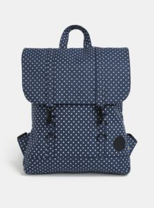 Tmavomodrý bodkovaný batoh Enter City Mini 8 l