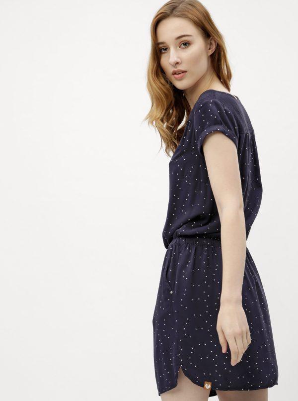 5951f866c2a6 Tmavomodré dámske bodkované šaty Ragwear Danila
