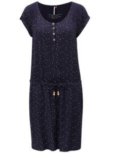 Tmavomodré dámske bodkované šaty Ragwear Danila