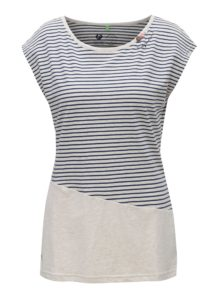Béžové dámske pruhované tričko Ragwear Ninon Organic