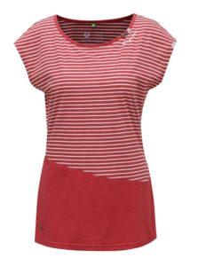 Červené dámske pruhované tričko Ragwear Ninon Organic