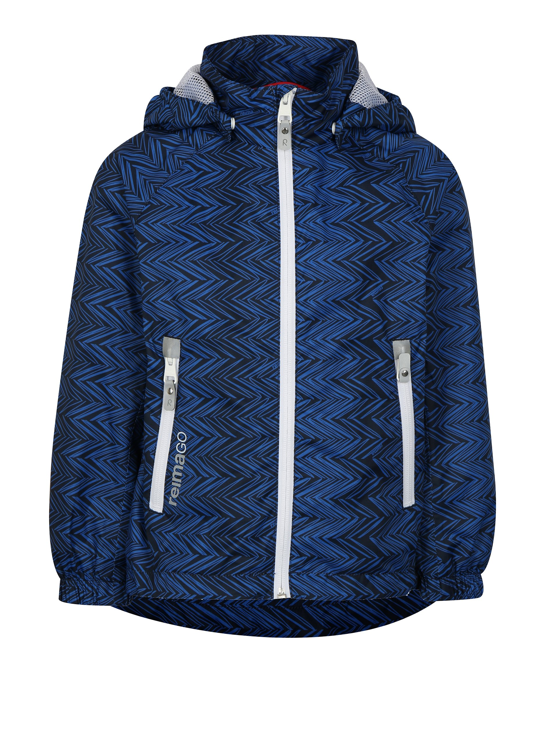 1ccc6a83324d2 Čierno–modrá chlapčenská funkčná bunda s kapucňou Reima Zigzag | Moda.sk